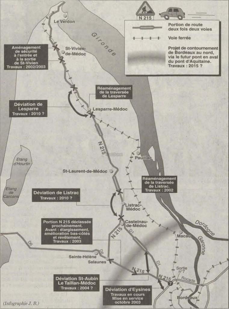 projet routier Médoc initial